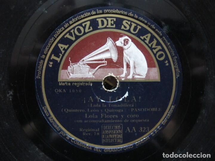 Discos de pizarra: LOLA FLORES / DOÑA MICAELA / ¡AY LOLA! (LA VOZ DE SU AMO AA 323) - Foto 3 - 212237647