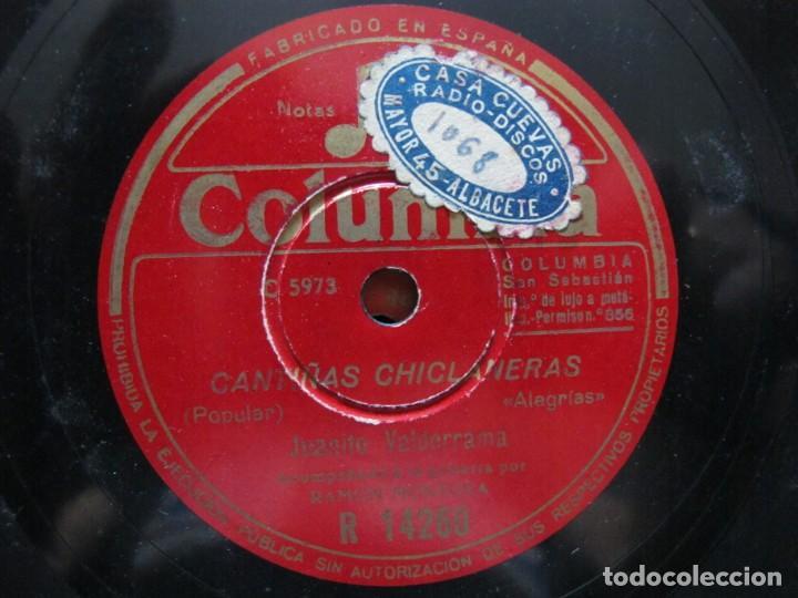 JUANITO VALDERRAMA / CANTIÑAS CLICLANERAS / LA FERIA DE OSUNA (COLUMBIA R 14260) (Música - Discos - Pizarra - Flamenco, Canción española y Cuplé)