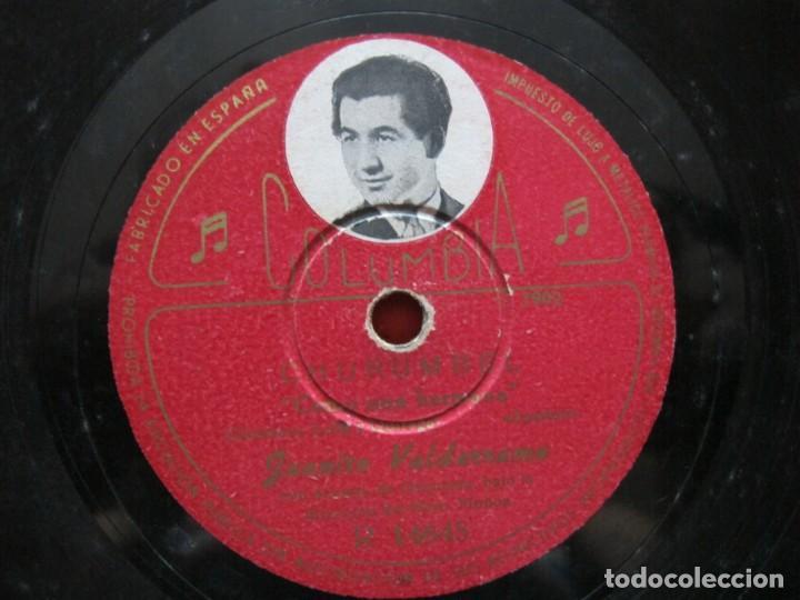 Discos de pizarra: JUANITO VALDERRAMA / CHURUMBEL / COMO UNA HERMANA (COLUMBIA R 14645) - Foto 3 - 212238821