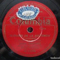 Discos de pizarra: JUANITO VALDERRAMA / SEÑORES DE LA AUDIENCIA / LA CRUZ DE LOS CAMINOS (COLUMBIA R 14296). Lote 212239201