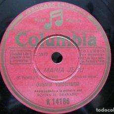 Dischi in gommalacca: JUANITO VALDERRAMA / MI MARIA JESU / SEVILLA, TU ERES PARA MI (COLUMBIA R 14186). Lote 212241585