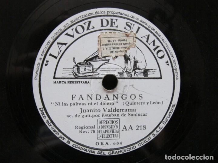 Discos de pizarra: JUANITO VALDERRAMA / LES DIJO A LAS TRES MARIAS / NI LAS PALMAS NI EL DINERO (LA VOZ DE SU AMO AA 21 - Foto 3 - 212241666
