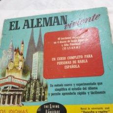 Discos de pizarra: APRENDER ALEMAN, EN DISCOS DE PIEDRA. Lote 212718202