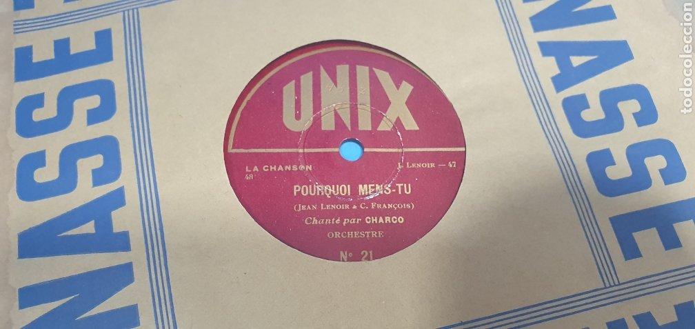 Discos de pizarra: LOTE DE 44 DISCOS DE PIZARRA - MÚSICA EN FRANCES , odeón , Polydor , unix y otros - Foto 2 - 212686417