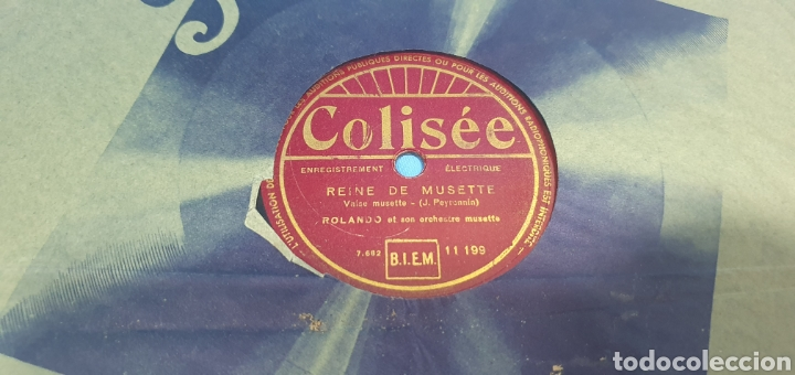 Discos de pizarra: LOTE DE 44 DISCOS DE PIZARRA - MÚSICA EN FRANCES , odeón , Polydor , unix y otros - Foto 3 - 212686417