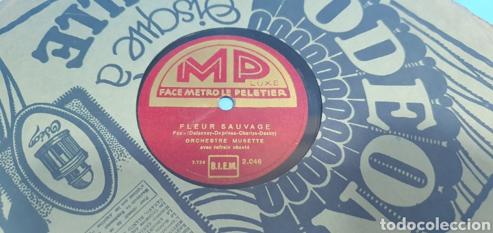 Discos de pizarra: LOTE DE 44 DISCOS DE PIZARRA - MÚSICA EN FRANCES , odeón , Polydor , unix y otros - Foto 4 - 212686417
