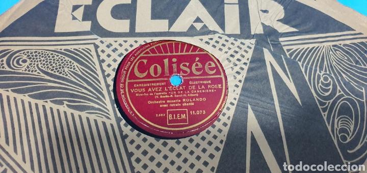 Discos de pizarra: LOTE DE 44 DISCOS DE PIZARRA - MÚSICA EN FRANCES , odeón , Polydor , unix y otros - Foto 5 - 212686417