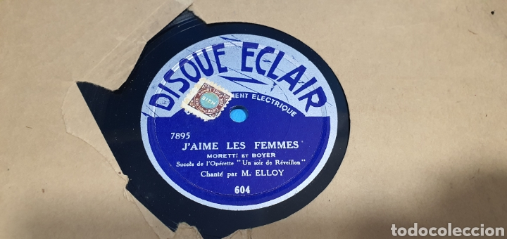 Discos de pizarra: LOTE DE 44 DISCOS DE PIZARRA - MÚSICA EN FRANCES , odeón , Polydor , unix y otros - Foto 6 - 212686417
