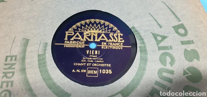 Discos de pizarra: LOTE DE 44 DISCOS DE PIZARRA - MÚSICA EN FRANCES , odeón , Polydor , unix y otros - Foto 9 - 212686417