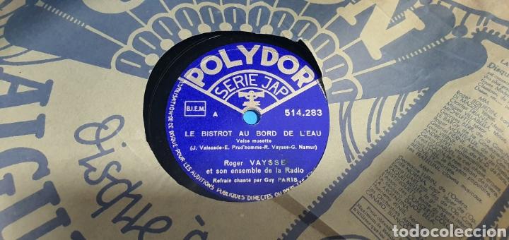 Discos de pizarra: LOTE DE 44 DISCOS DE PIZARRA - MÚSICA EN FRANCES , odeón , Polydor , unix y otros - Foto 12 - 212686417
