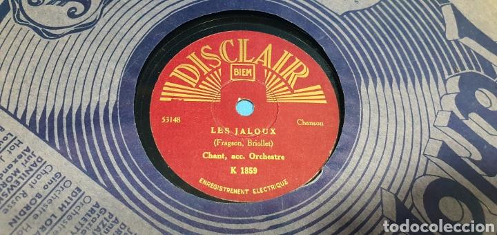 Discos de pizarra: LOTE DE 44 DISCOS DE PIZARRA - MÚSICA EN FRANCES , odeón , Polydor , unix y otros - Foto 19 - 212686417