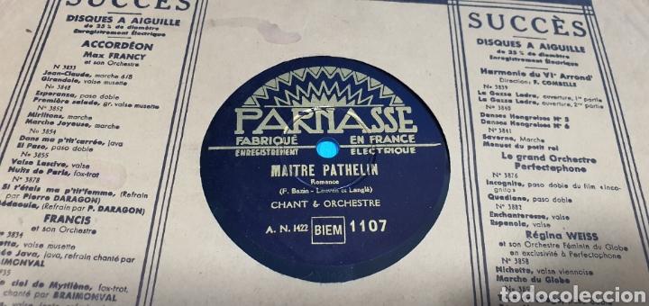 Discos de pizarra: LOTE DE 44 DISCOS DE PIZARRA - MÚSICA EN FRANCES , odeón , Polydor , unix y otros - Foto 24 - 212686417