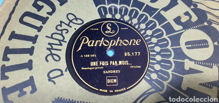Discos de pizarra: LOTE DE 44 DISCOS DE PIZARRA - MÚSICA EN FRANCES , odeón , Polydor , unix y otros - Foto 31 - 212686417