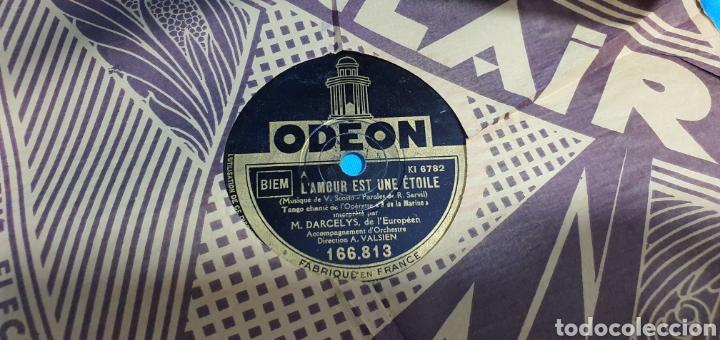 Discos de pizarra: LOTE DE 44 DISCOS DE PIZARRA - MÚSICA EN FRANCES , odeón , Polydor , unix y otros - Foto 33 - 212686417