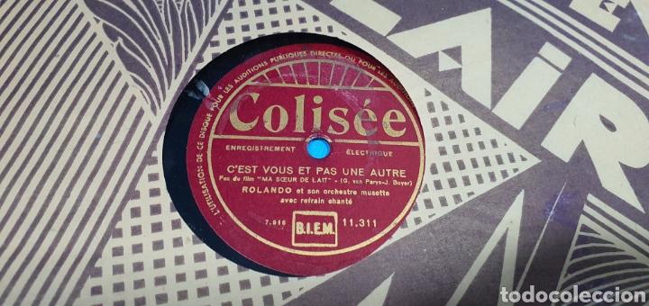 Discos de pizarra: LOTE DE 44 DISCOS DE PIZARRA - MÚSICA EN FRANCES , odeón , Polydor , unix y otros - Foto 35 - 212686417