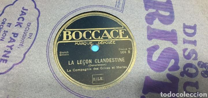 Discos de pizarra: LOTE DE 44 DISCOS DE PIZARRA - MÚSICA EN FRANCES , odeón , Polydor , unix y otros - Foto 38 - 212686417