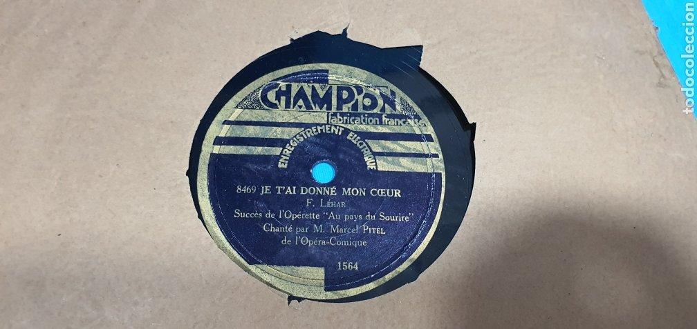 Discos de pizarra: LOTE DE 44 DISCOS DE PIZARRA - MÚSICA EN FRANCES , odeón , Polydor , unix y otros - Foto 41 - 212686417