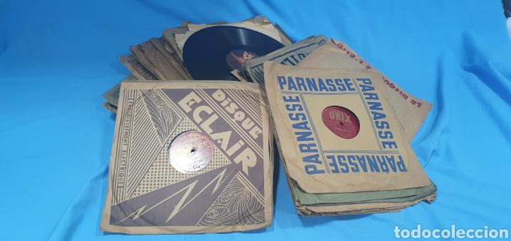 LOTE DE 44 DISCOS DE PIZARRA - MÚSICA EN FRANCES , ODEÓN , POLYDOR , UNIX Y OTROS (Música - Discos - Pizarra - Otros estilos)