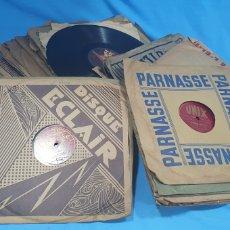 Discos de pizarra: LOTE DE 44 DISCOS DE PIZARRA - MÚSICA EN FRANCES , ODEÓN , POLYDOR , UNIX Y OTROS. Lote 212686417