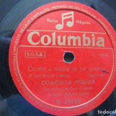 Dischi in gommalacca: CONCHITA PIQUER / COMO A NADIE TE HE QUERIO / NO SE VA LA PALOMA (COLUMBIA R 19120). Lote 213174240