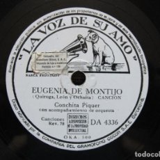 Discos de pizarra: CONCHITA PIQUER / EUGENIA DE MONTIJO / CARCELERA (LA VOZ DE SU AMO DA 4336). Lote 213177002