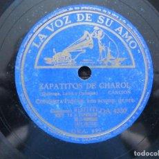 Discos de pizarra: CONCHITA PIQUER / ZAPATITOS DE CHAROL / MA DA MIEDO DE LA LUNA (LA VOZ DE SU AMO DA 4330). Lote 213177876