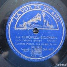 Discos de pizarra: CONCHITA PIQUER / LA CHIQUITA PICONERA / DOÑA LUZ (LA VOZ DE SU AMO DA 4351). Lote 213178041