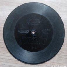 Dischi in gommalacca: MUSICA, ANTIGUO DISCO PIZARRA UNA SOLA CARA GRAMOPHONE REGIMIENTO INFANTERIA DEL REY - DIAMETRO 17,5. Lote 213188498