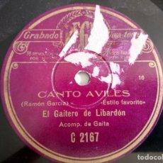 Dischi in gommalacca: CANTO AVILÉS - LA FLOR DEL ROMERO, EL GAITERO DE LIBARDÓN. Lote 213434663