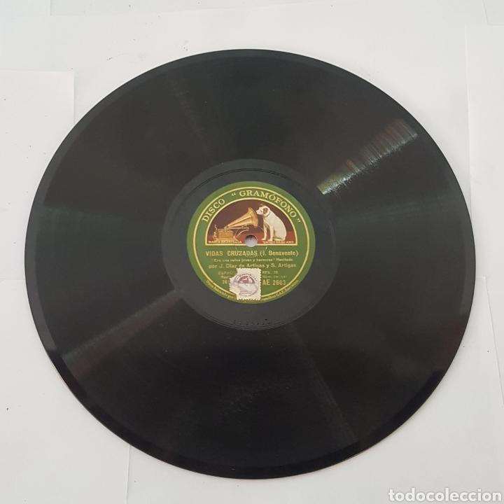 Discos de pizarra: DISCO GRAMOFONO- LA VOZ DE SU AMO-VIDAS CRUZADAS - Foto 5 - 213452322