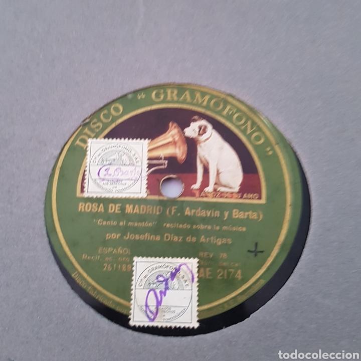 Discos de pizarra: DISCO GRAMOFONO-LA VOZ DE SU AMO-ROSA DE MADRID - Foto 2 - 213455842