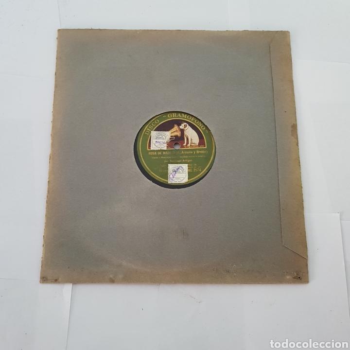 Discos de pizarra: DISCO GRAMOFONO-LA VOZ DE SU AMO-ROSA DE MADRID - Foto 3 - 213455842
