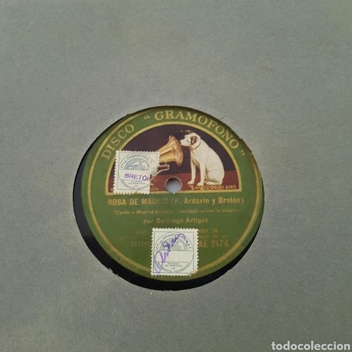 Discos de pizarra: DISCO GRAMOFONO-LA VOZ DE SU AMO-ROSA DE MADRID - Foto 4 - 213455842