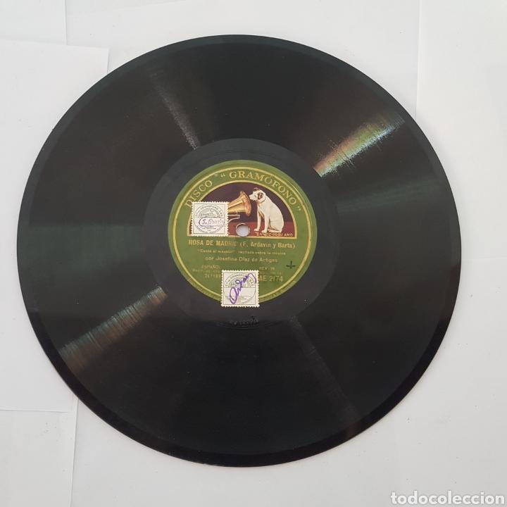 Discos de pizarra: DISCO GRAMOFONO-LA VOZ DE SU AMO-ROSA DE MADRID - Foto 5 - 213455842
