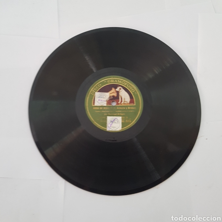 Discos de pizarra: DISCO GRAMOFONO-LA VOZ DE SU AMO-ROSA DE MADRID - Foto 6 - 213455842