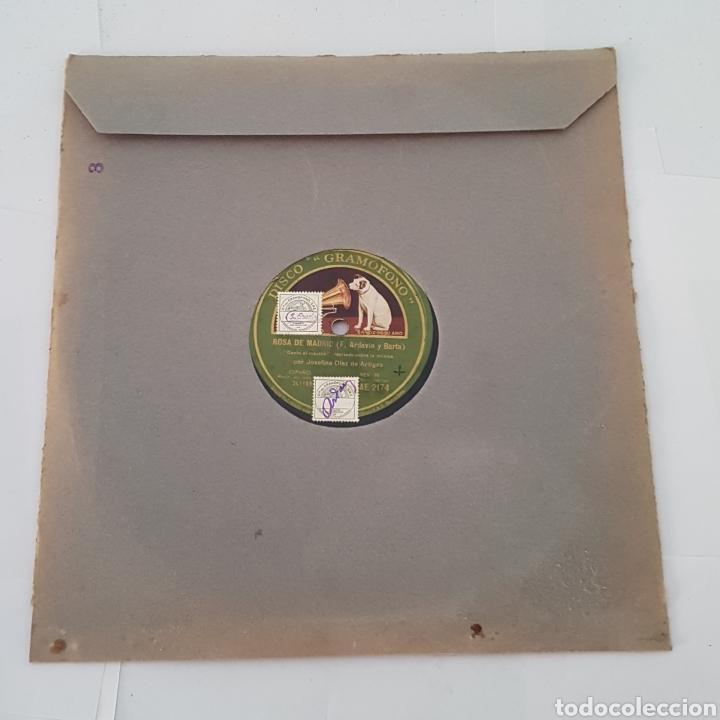 DISCO GRAMOFONO-LA VOZ DE SU AMO-ROSA DE MADRID (Música - Discos - Pizarra - Otros estilos)