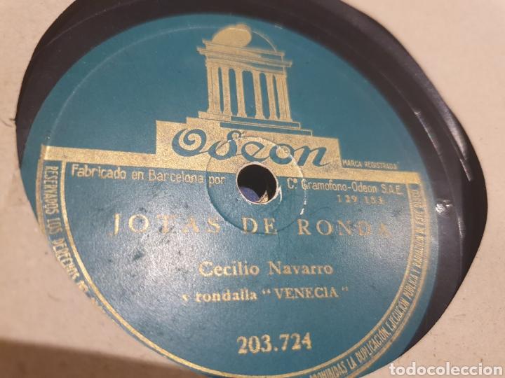 Discos de pizarra: Jotas 78 rpm Cecilio Navarro - Foto 2 - 213479720