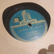Discos de pizarra: JOTAS 78 RPM CECILIO NAVARRO. Lote 213479720