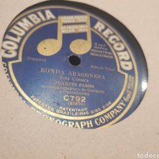 Discos de pizarra: JUANITO PARDO JOTAS. Lote 213480031