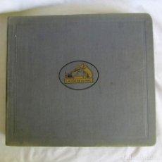 Discos de pizarra: ÁLBUM DE DISCOS DE PIZARRA LA VOZ DE SU AMO, 12 DISCOS DE 25 CM DE DIÁMETRO, TÍTULOS EN FOTOGRAFÍAS. Lote 213490297