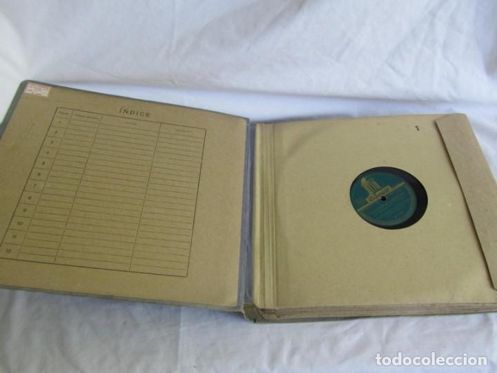 Discos de pizarra: Álbum de discos de pizarra La voz de su amo, 12 discos de 25 cm de diámetro, títulos en fotografías - Foto 3 - 213490297