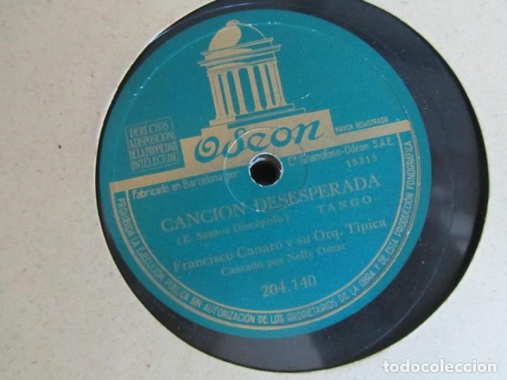 Discos de pizarra: Álbum de discos de pizarra La voz de su amo, 12 discos de 25 cm de diámetro, títulos en fotografías - Foto 4 - 213490297