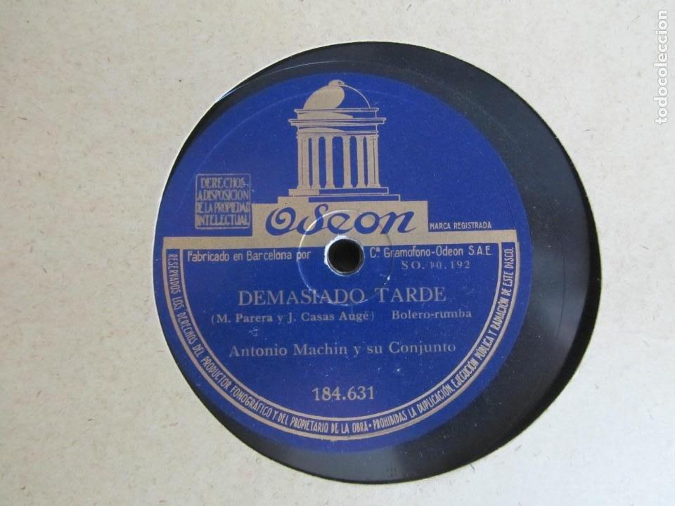 Discos de pizarra: Álbum de discos de pizarra La voz de su amo, 12 discos de 25 cm de diámetro, títulos en fotografías - Foto 6 - 213490297