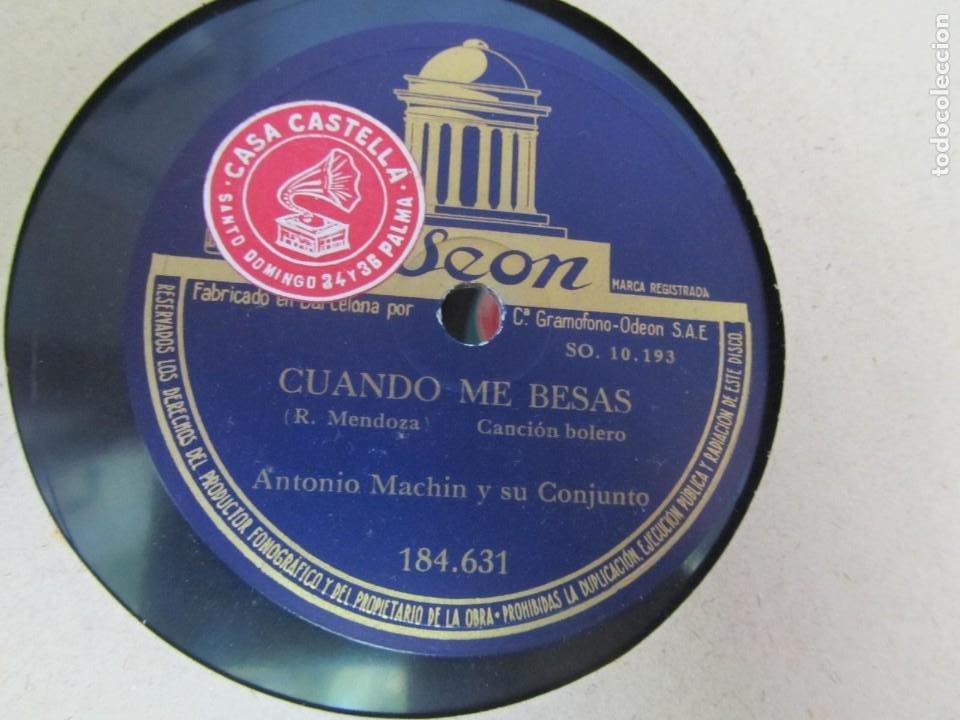 Discos de pizarra: Álbum de discos de pizarra La voz de su amo, 12 discos de 25 cm de diámetro, títulos en fotografías - Foto 7 - 213490297