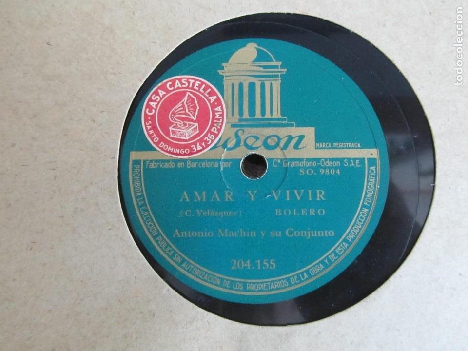 Discos de pizarra: Álbum de discos de pizarra La voz de su amo, 12 discos de 25 cm de diámetro, títulos en fotografías - Foto 12 - 213490297