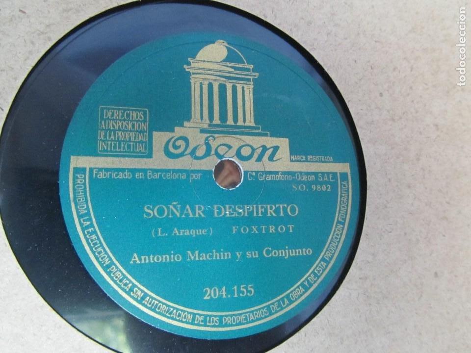 Discos de pizarra: Álbum de discos de pizarra La voz de su amo, 12 discos de 25 cm de diámetro, títulos en fotografías - Foto 13 - 213490297