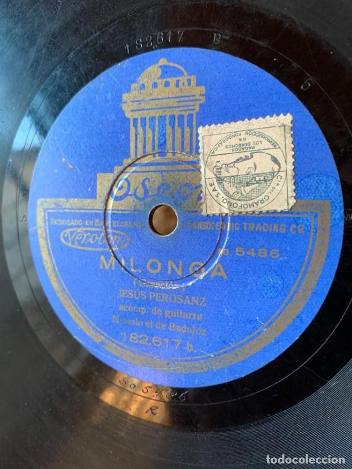 Discos de pizarra: DISCO PIZARRA ODEON - FANDANGUILLO - MILONGAS - Foto 4 - 134934846