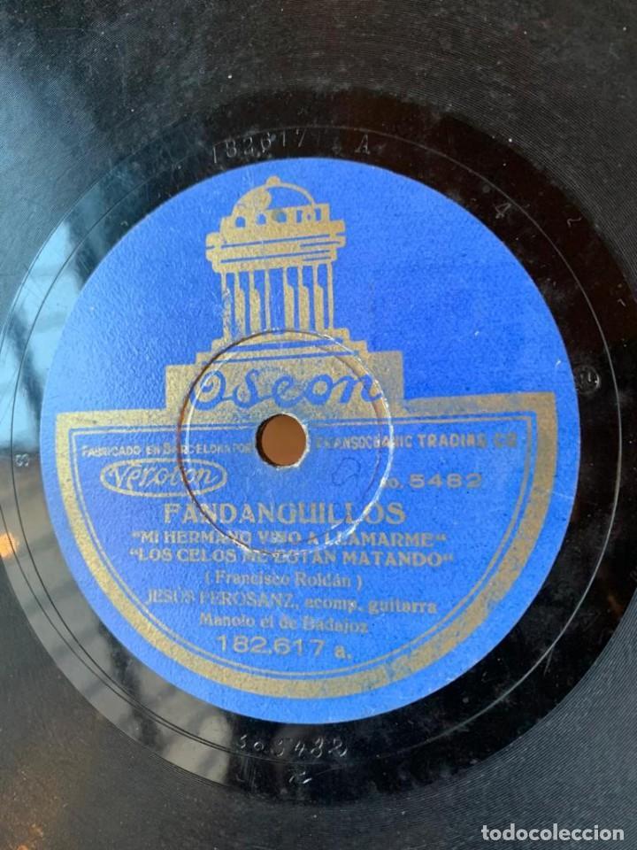 Discos de pizarra: DISCO PIZARRA ODEON - FANDANGUILLO - MILONGAS - Foto 5 - 134934846
