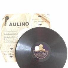 Discos de pizarra: ANTIGUO DISCO DE PIZARRA PARA GRAMOLA O GRAMÓFONO- IMPERIO ARGENTINA. Lote 214646690