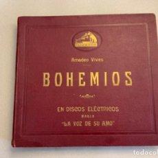 Discos de pizarra: BOHEMIOS. AMADEO VIVES.. Lote 215095165